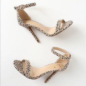 Cheetah suede single strap heels lulus